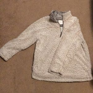 Thread and Supply Ivory Wubby Fleece Pullover